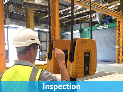 lifting equipment testing Llannelli